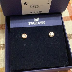 Swarovski Rose Gold Stud Earrings